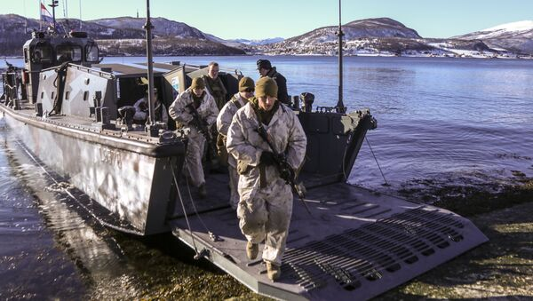 Americká námořní pěchota v Norsku - Sputnik Česká republika