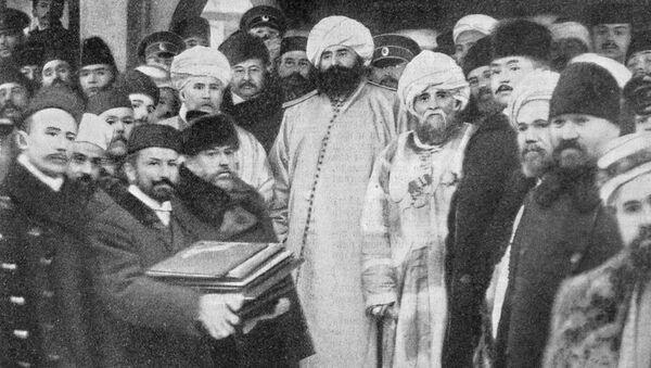 Zakládání mešity v Petrohradu v roce 1910 - Sputnik Česká republika