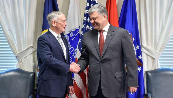 James Mattis a Petro Porošenko - Sputnik Česká republika
