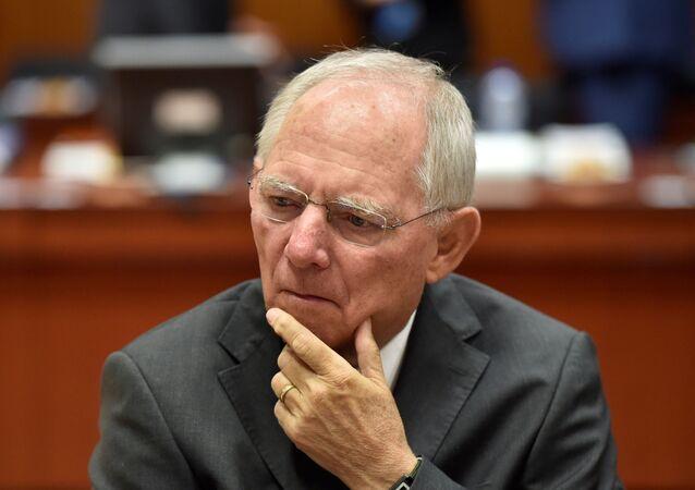 Německý ministr financí Wolfgang Schäuble