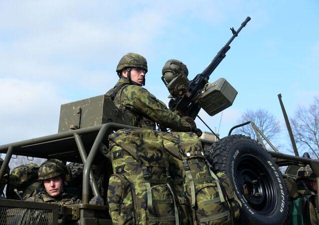 Čeští vojáci na cvičení NATO