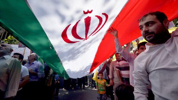 Íránská vlajka. Ilustrační foto - Sputnik Česká republika