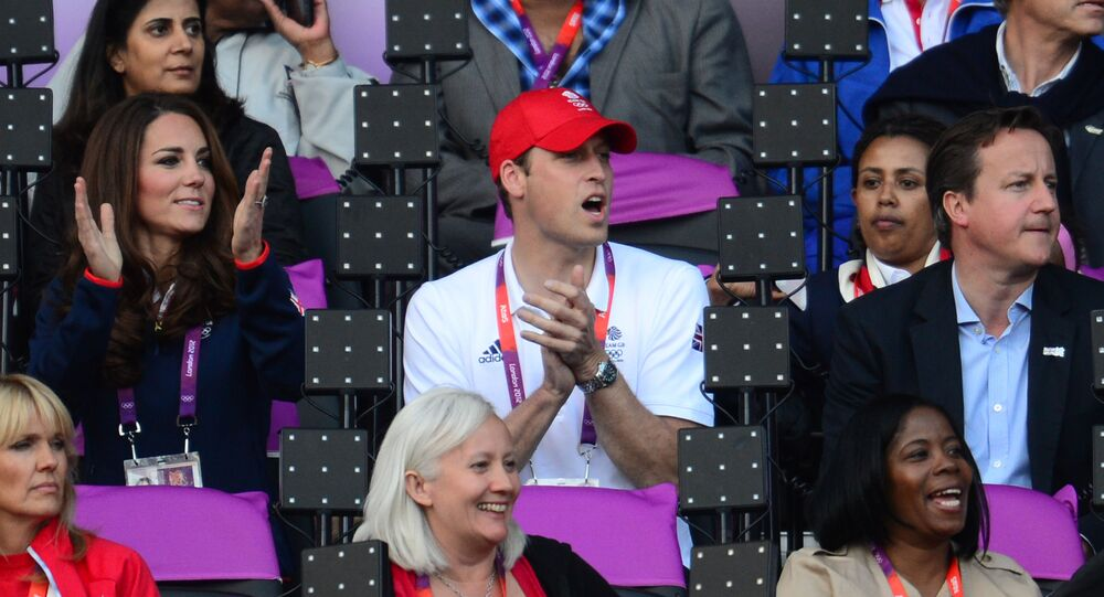 David Cameron, princ William a Catherine, vévodkyně z Cambridge