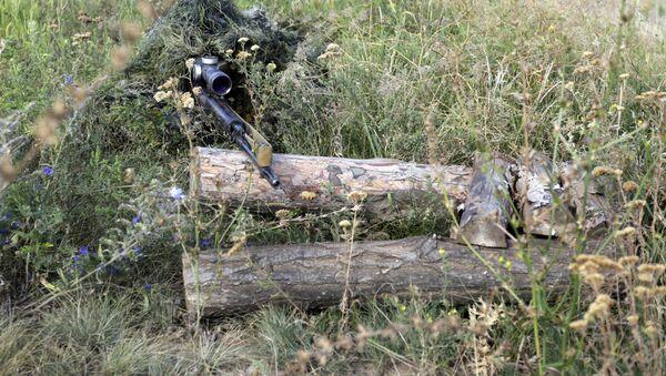 Odstřelovač ukrajinské armády v LLR - Sputnik Česká republika
