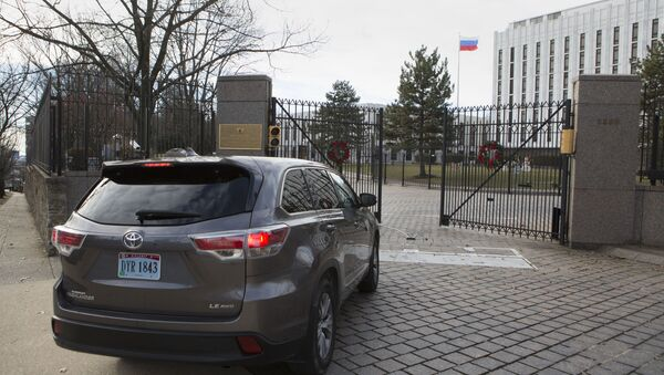 Budova ruského velvyslanectví ve Washingtonu - Sputnik Česká republika