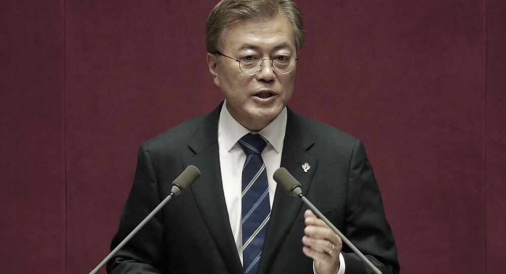 Prezident Korejské republiky Mun Če-in