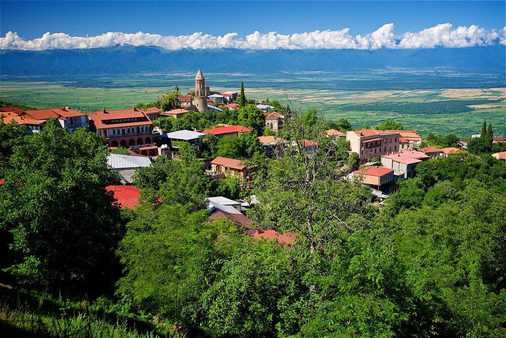 Město Signagi v Kachetii, Gruzie
