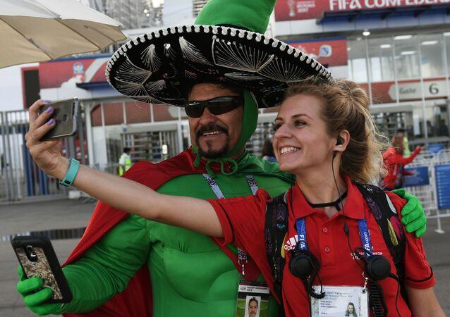 Mexický fotbalový fanoušek