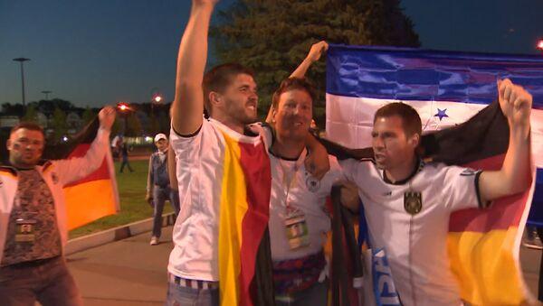 Veselí německých fanoušků po vítězství německé reprezentace - Sputnik Česká republika