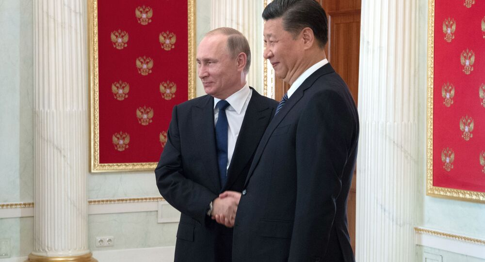 Prezident Ruska Vladimír Putin a čínský prezident Si Ťin-ping