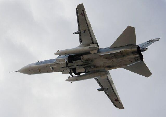 Su-24 ruských VKS. Latákie, Sýrie
