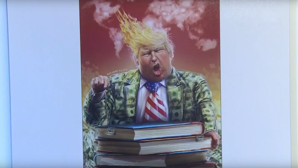 V Íránu vybrali nejlepší karikaturu Donalda Trumpa. Video - Sputnik Česká republika