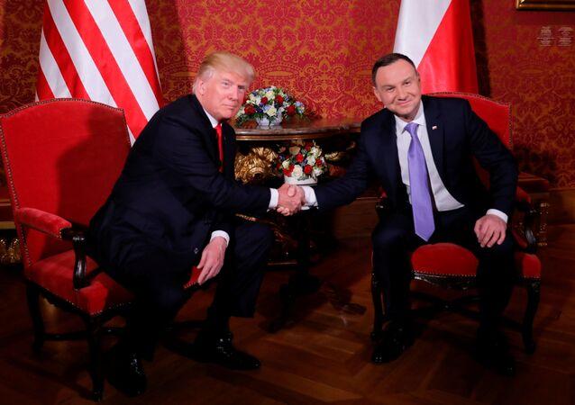 Polský prezident Andrzej Duda s prezidentem USA Donaldem Trumpem