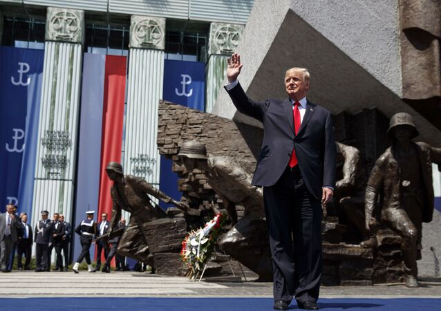 Americký prezident Donald Trump během návštěvy v Polsku
