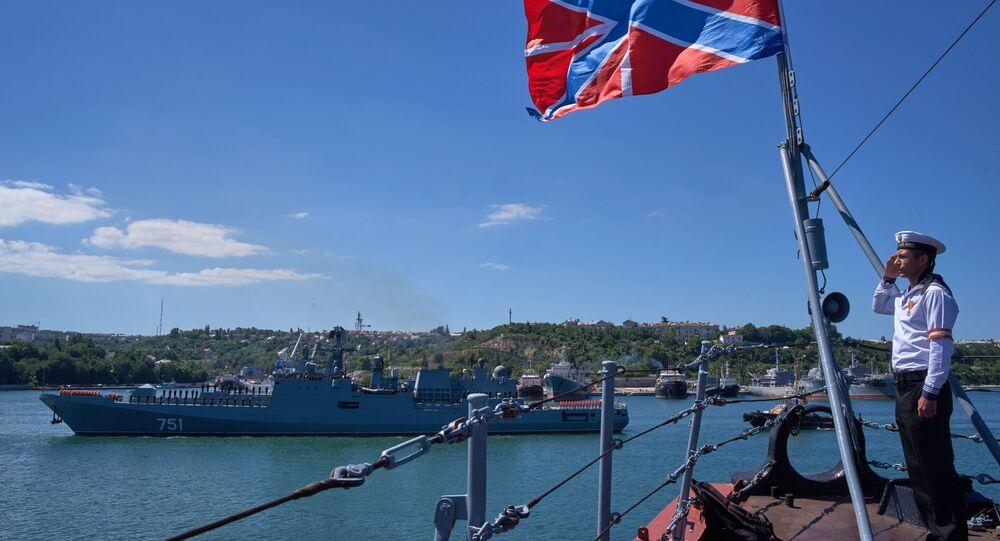 Fregata Admirál Essen po splnění bojových úkolů u syrských břehů