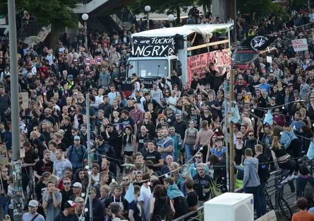 Protesty v Hamburku