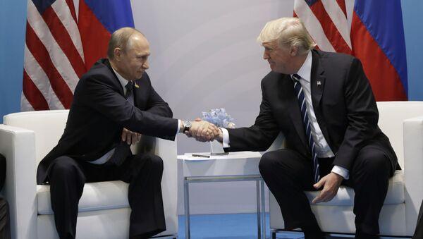 Schůzka Vladimira Putina s Donaldem Trumpem - Sputnik Česká republika