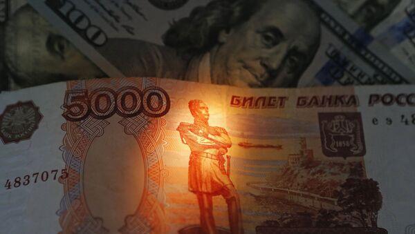 Rubl a dollar - Sputnik Česká republika