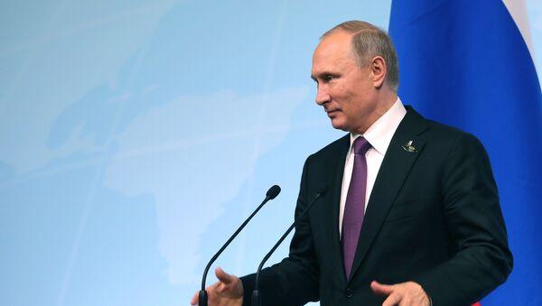 Vladimir Putin během tiskové konference - Sputnik Česká republika