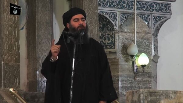 Vůdce IS Ibrahím Abú Bakr al-Bagdádí - Sputnik Česká republika