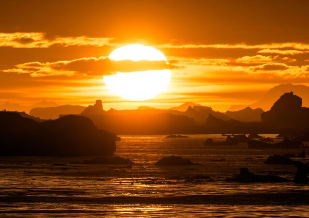 Západ slunce, Antarktida