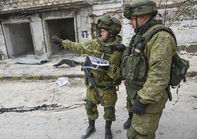 Ruští vojáci v Aleppu