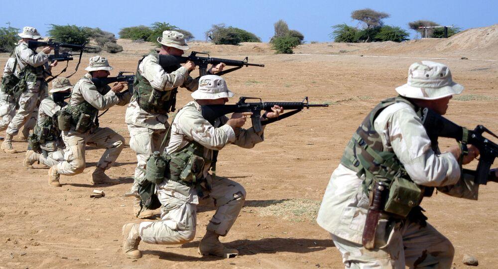 Vojenská cvičení na americké základně v Camp Lemonnier v Džibutsku