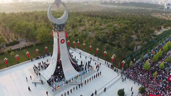 Mítink a odhalení památníku obětem převratu v Turecku - Sputnik Česká republika