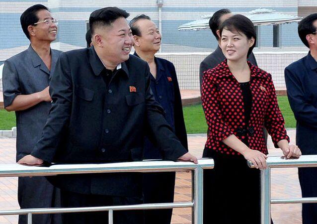 Kim Čong-un a Ri Sol-ču