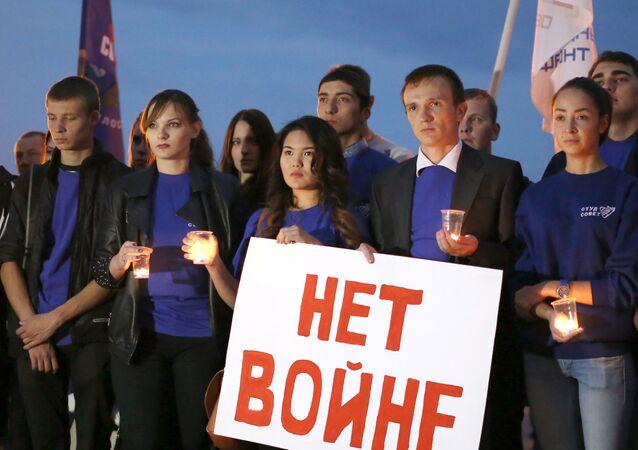 Mladí lidé ve Volgogradu