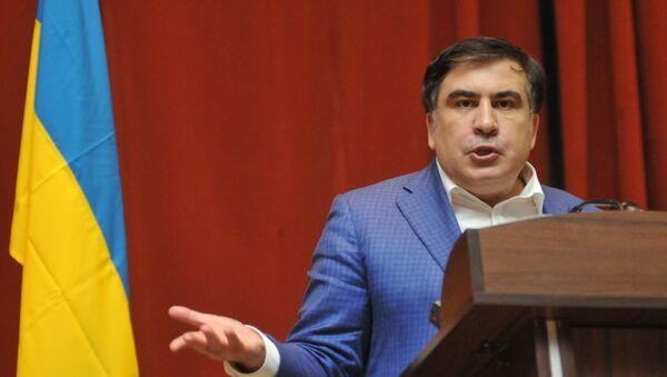 Bývalý gruzínský prezident a gubernátor Oděské oblasti Michail Saakašvili - Sputnik Česká republika