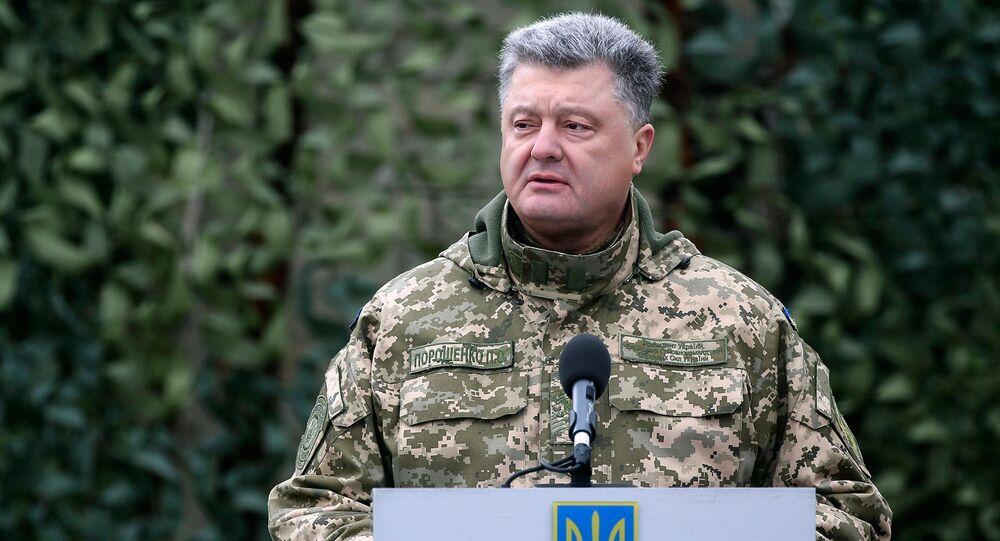 Ukrajinský prezident Petro Porošenko. Ilustrační foto