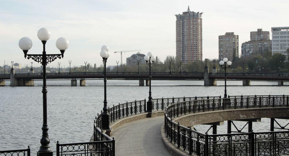 Nábřeží v Doněcku. Ilustrační foto