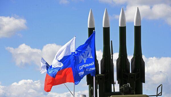 Rakety kompletu Buk-2ME na aerosalonu MAKS od společnosti Almaz-Antej - Sputnik Česká republika