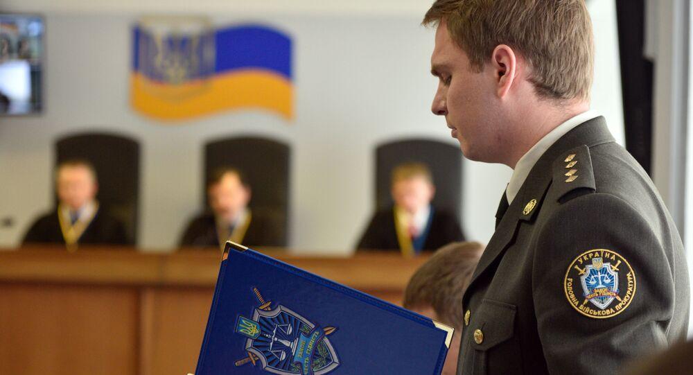 Prokurátor a vyšetřovatel ukrajinské Hlavní vojenské prokuratury Ruslan Kravčenko