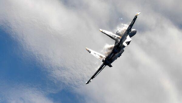 Víceúčelová frontová stíhačka MiG-35 na Mezinárodní letecké a kosmické výstavě MAKS 2017 - Sputnik Česká republika