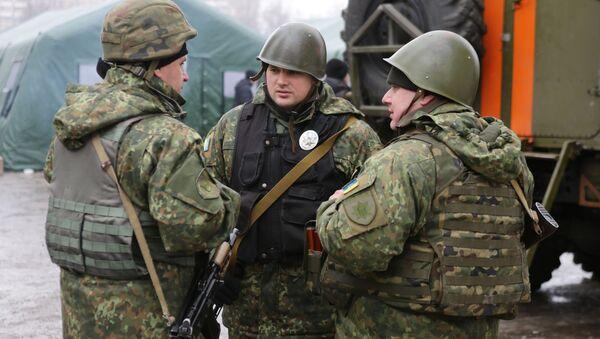 Ukrajinští vojáci v Doněcké oblasti - Sputnik Česká republika