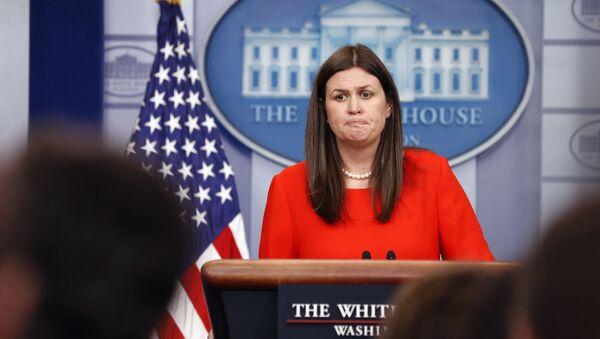 Tisková mluvčí Bílého domu Sarah Sandersová - Sputnik Česká republika
