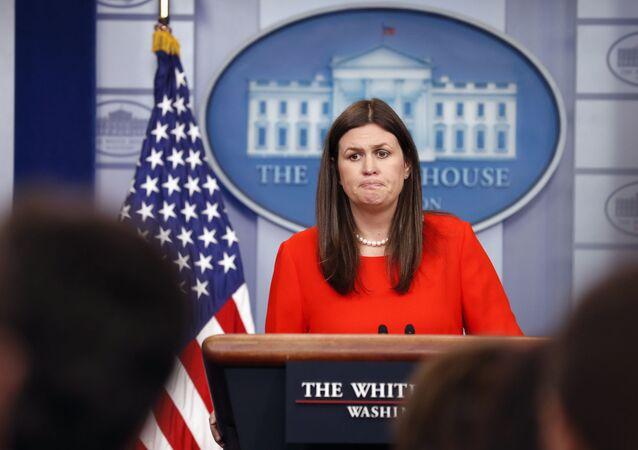 Tisková mluvčí Bílého domu Sarah Sandersová