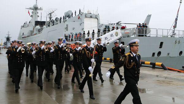 Slavnostní ceremonie vítání jedné z třech lodí čínského námořnictva v přístavu Baltijska - Sputnik Česká republika