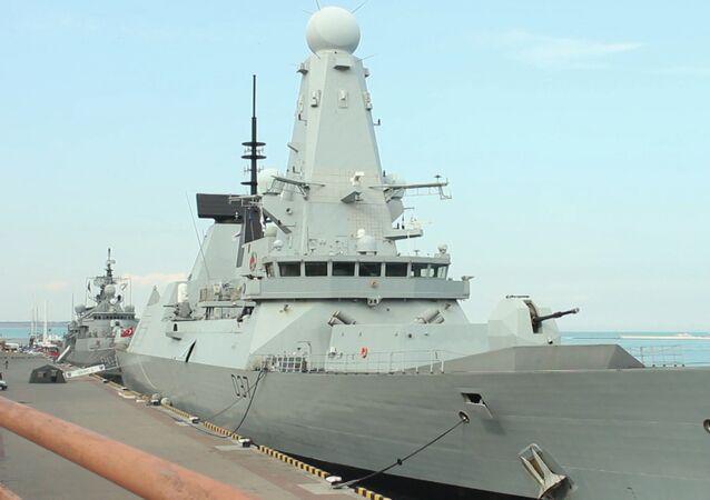 Lodě NATO v oděském přístavu. Video