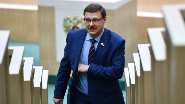 Šéf výboru Rady federace pro mezinárodní záležitosti Konstantin Kosačev - Sputnik Česká republika