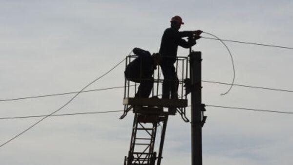 Oprava elektrického vedení v Děbalcově, DLR - Sputnik Česká republika