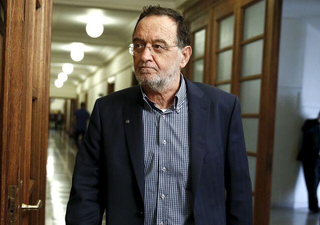 Ministr výrobní reformy, životního prostředí a energetiky Řecka Panagiotis Lafazanis