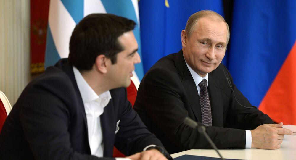 Vladimir Putin a Alexis Tsipras