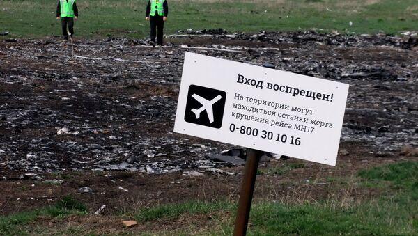 Místo havárie Boeingu MH17 - Sputnik Česká republika