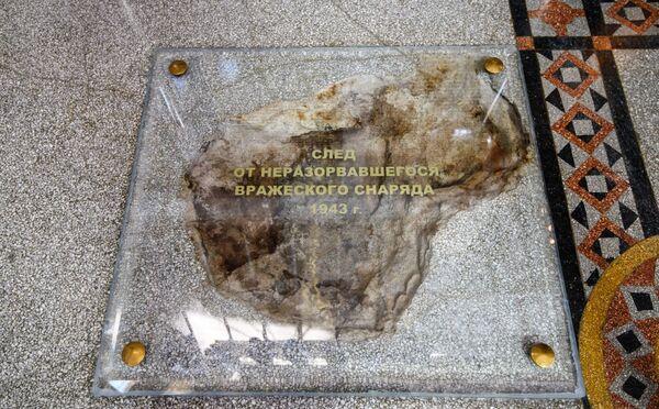 Stopa od nevybuchlé munice v Chrámu svatého Mikuláše v Kronštadtu - Sputnik Česká republika