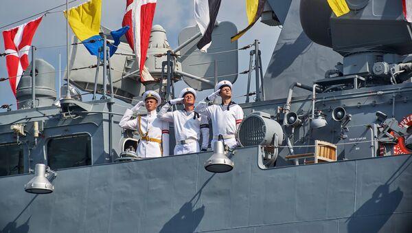 Zkouška vojensko-námořní přehlídky v Sevastopolu - Sputnik Česká republika