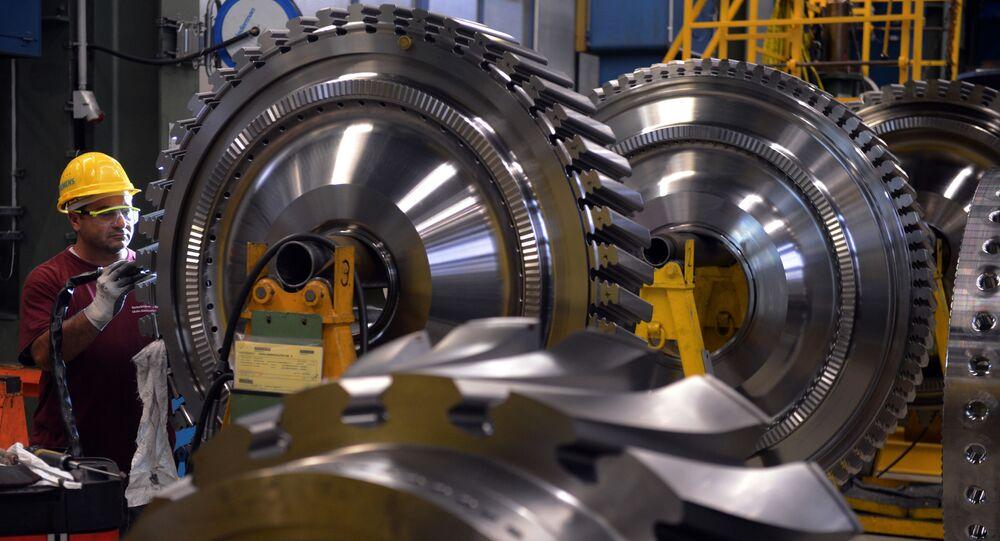 Továrna na výrobu turbín. Ilustrační foto