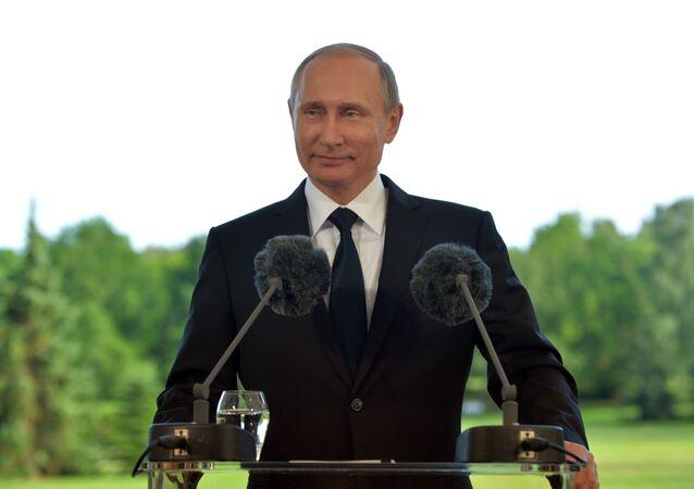 Vladimir Putin během návštěvy Finska